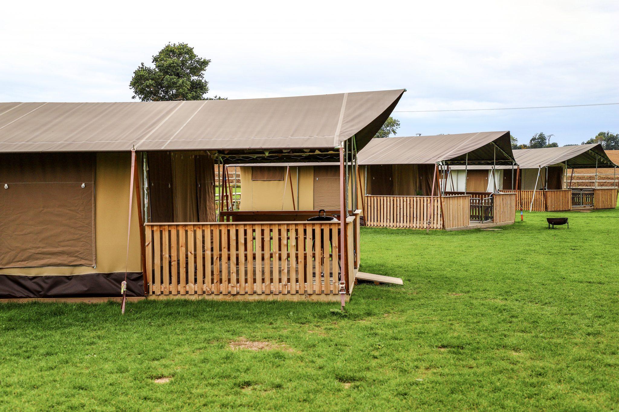 Safari Tents at Kingfisher Lakes Glamping Site