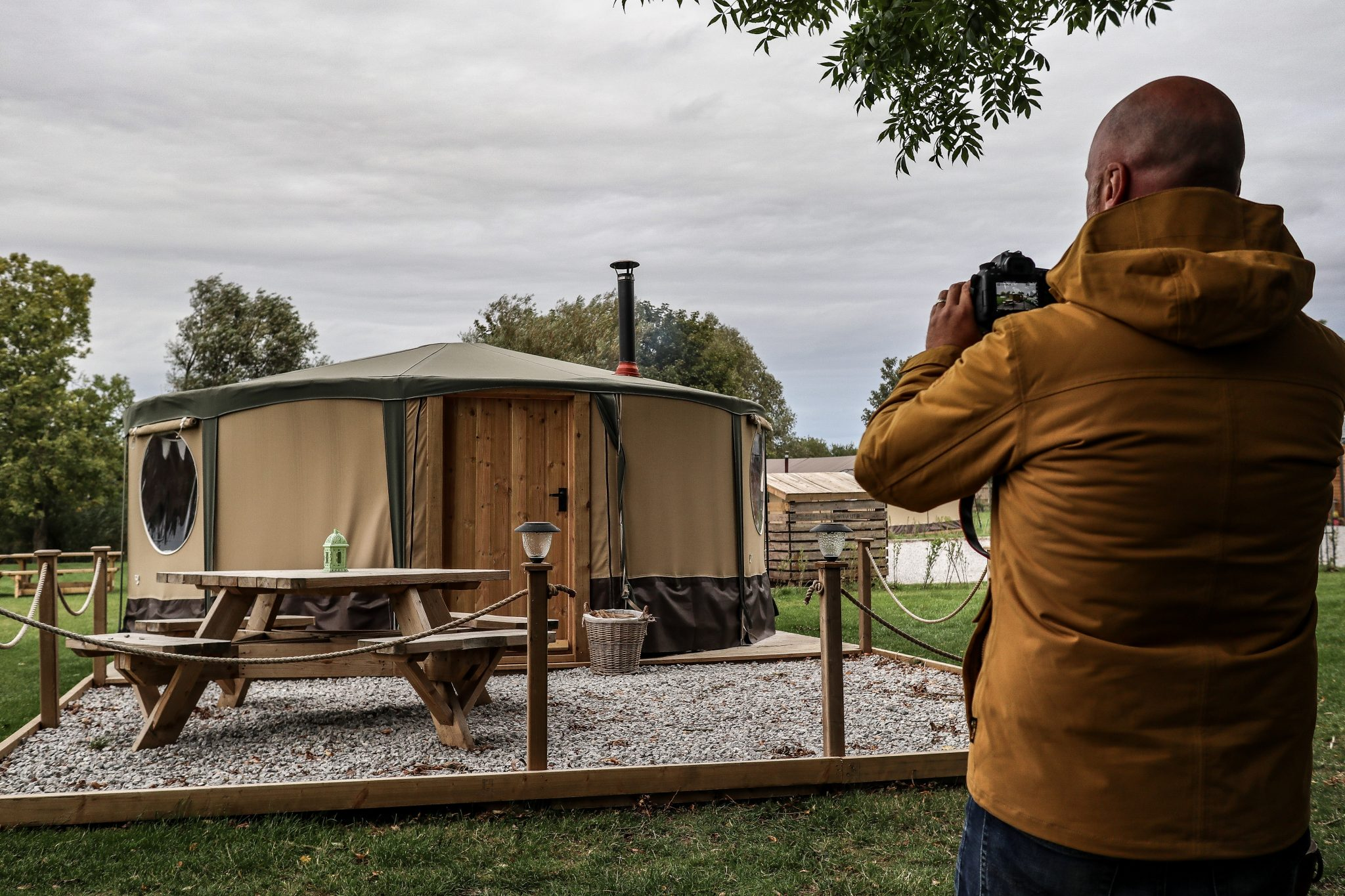 Mr ESLT and Yurt at Kingfisher Lakes Glamping Site