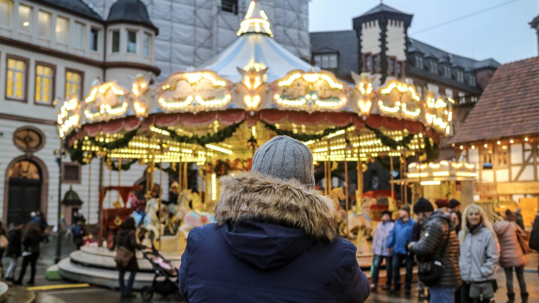 Mr ESLT at Frankfurt Christmas Market, Germany