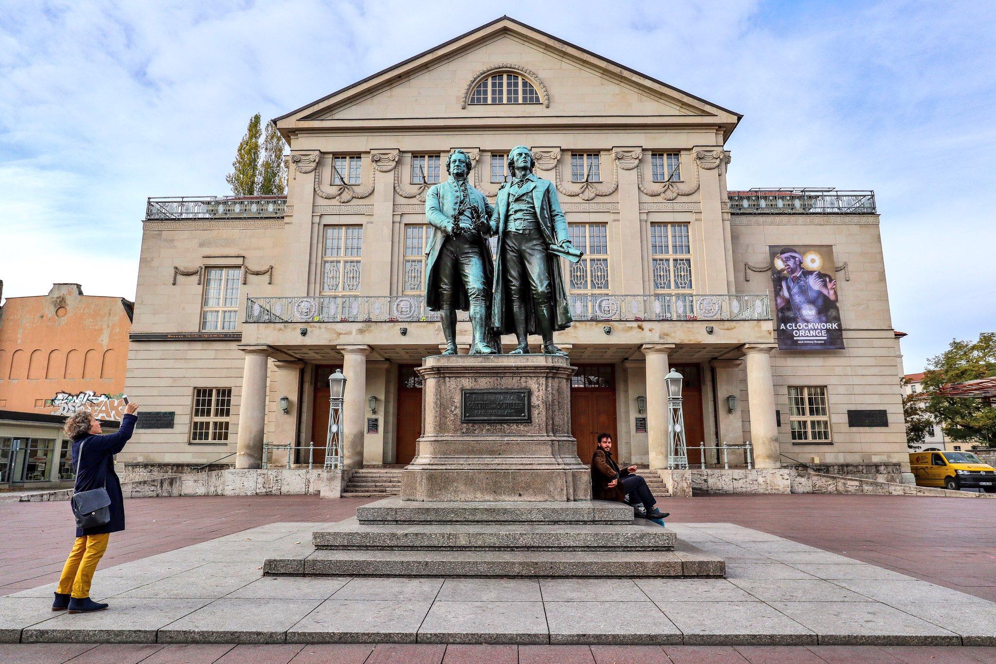 Goethe–Schiller Monument, Weimar, Germany