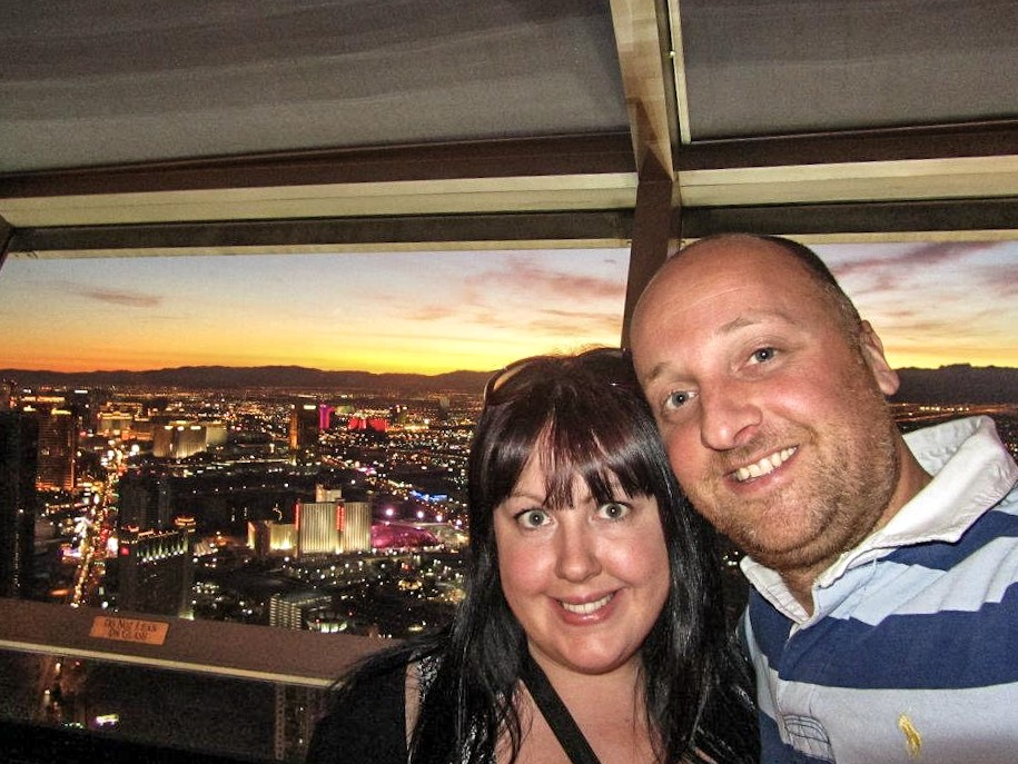 Mr ESLT & Vicky at the top of The Stratosphere, Las Vegas, USA
