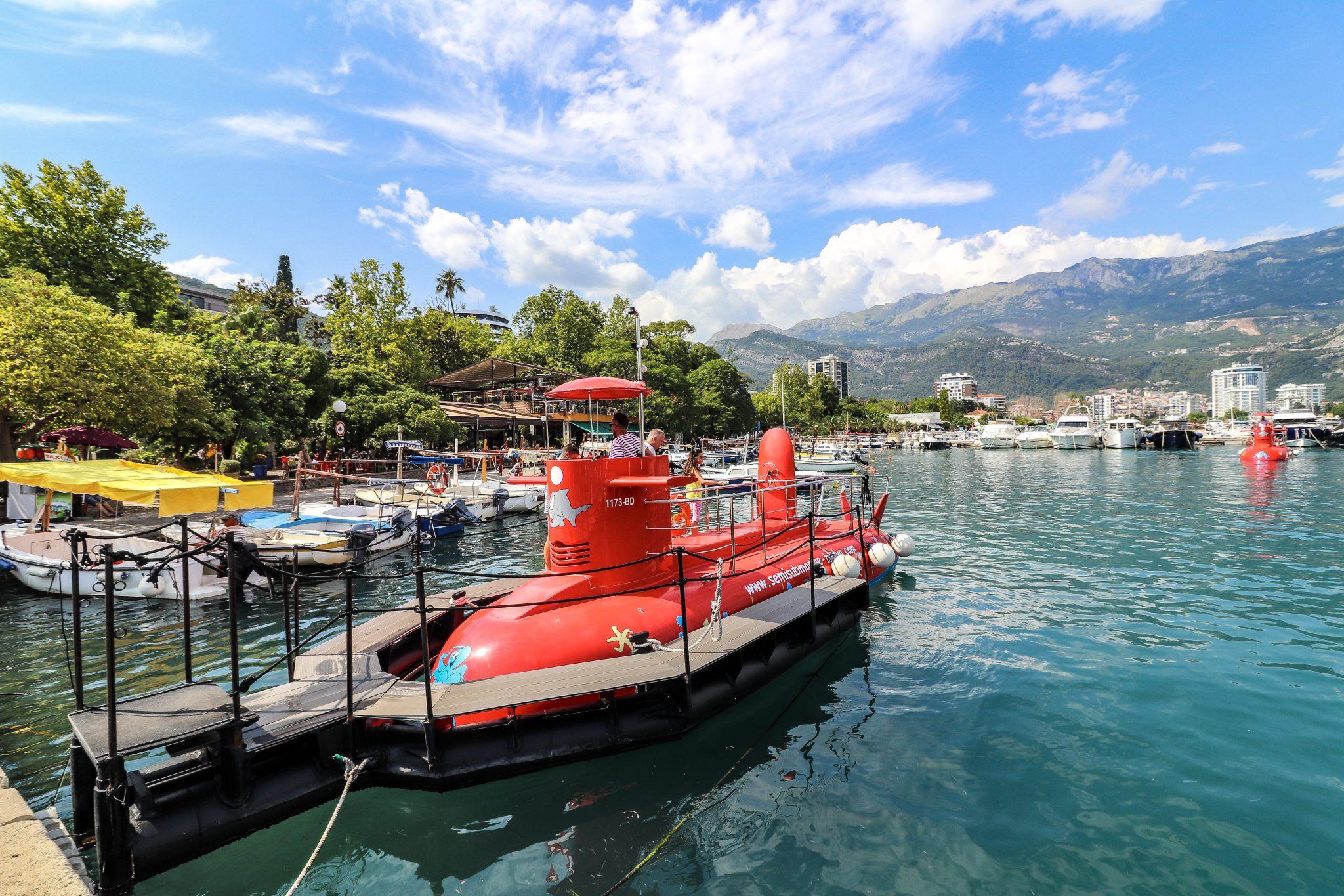 Submarine tour in Budva, Montenegro