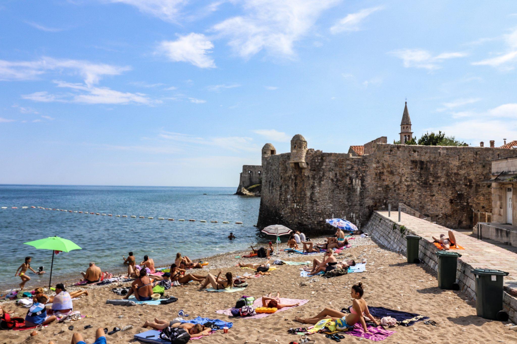 Beaches in Budva, Montenegro