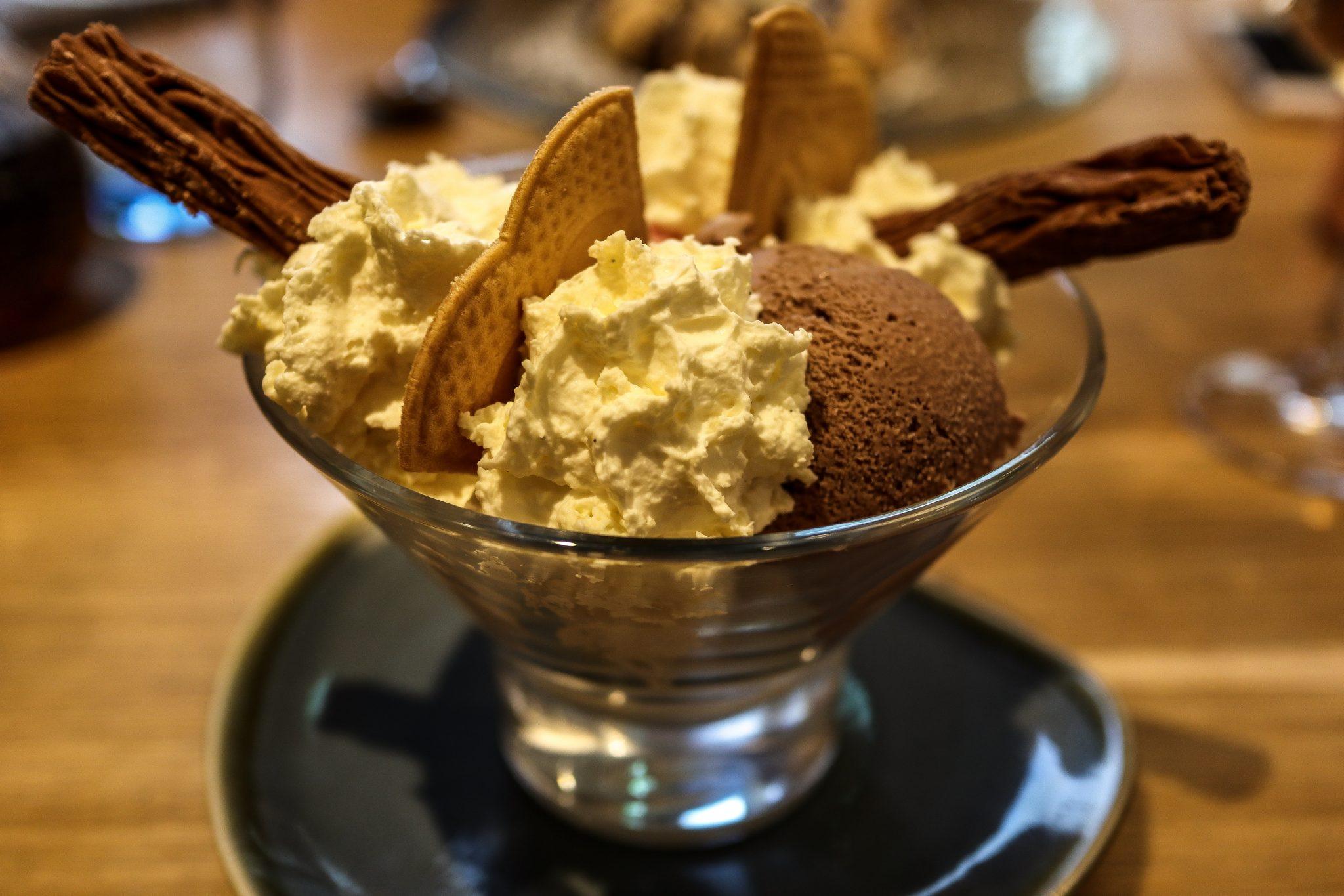 Ice cream at Keswick Reach Lodge Retreat, The Lake District