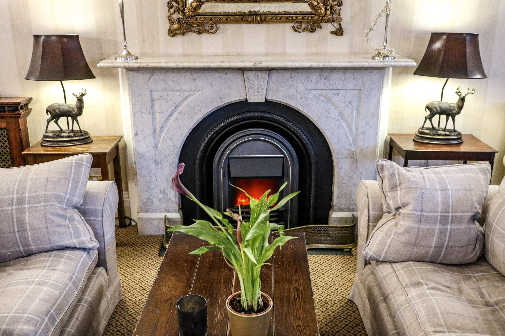Fireplace at The Wordsworth Hotel & Spa, Grasmere, The Lake District