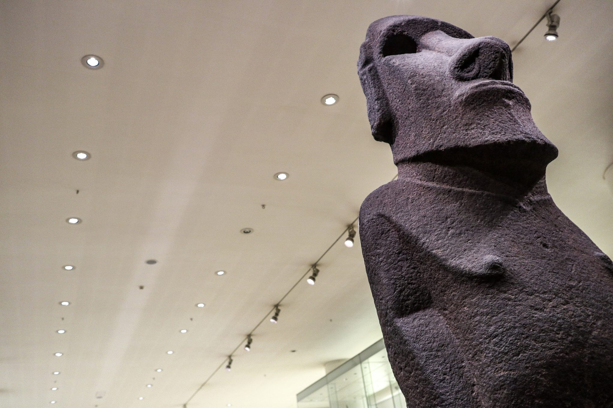 Easter Island Statue at The British Museum, London