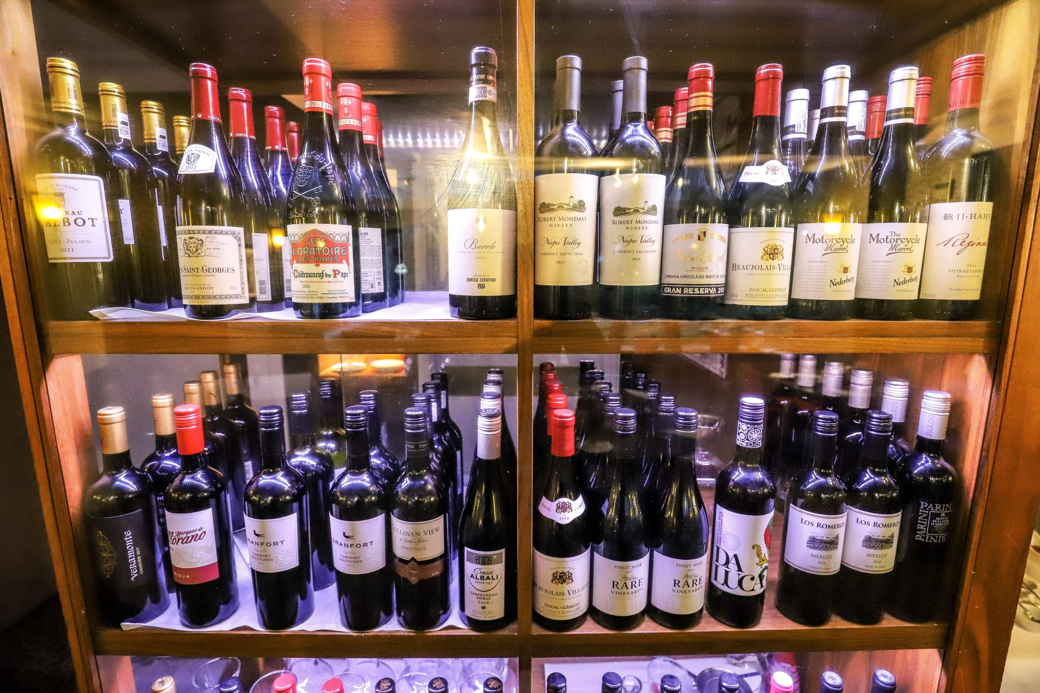 Wine at The Signature Restaurant, The Wordsworth Hotel & Spa, Grasmere, The Lake District