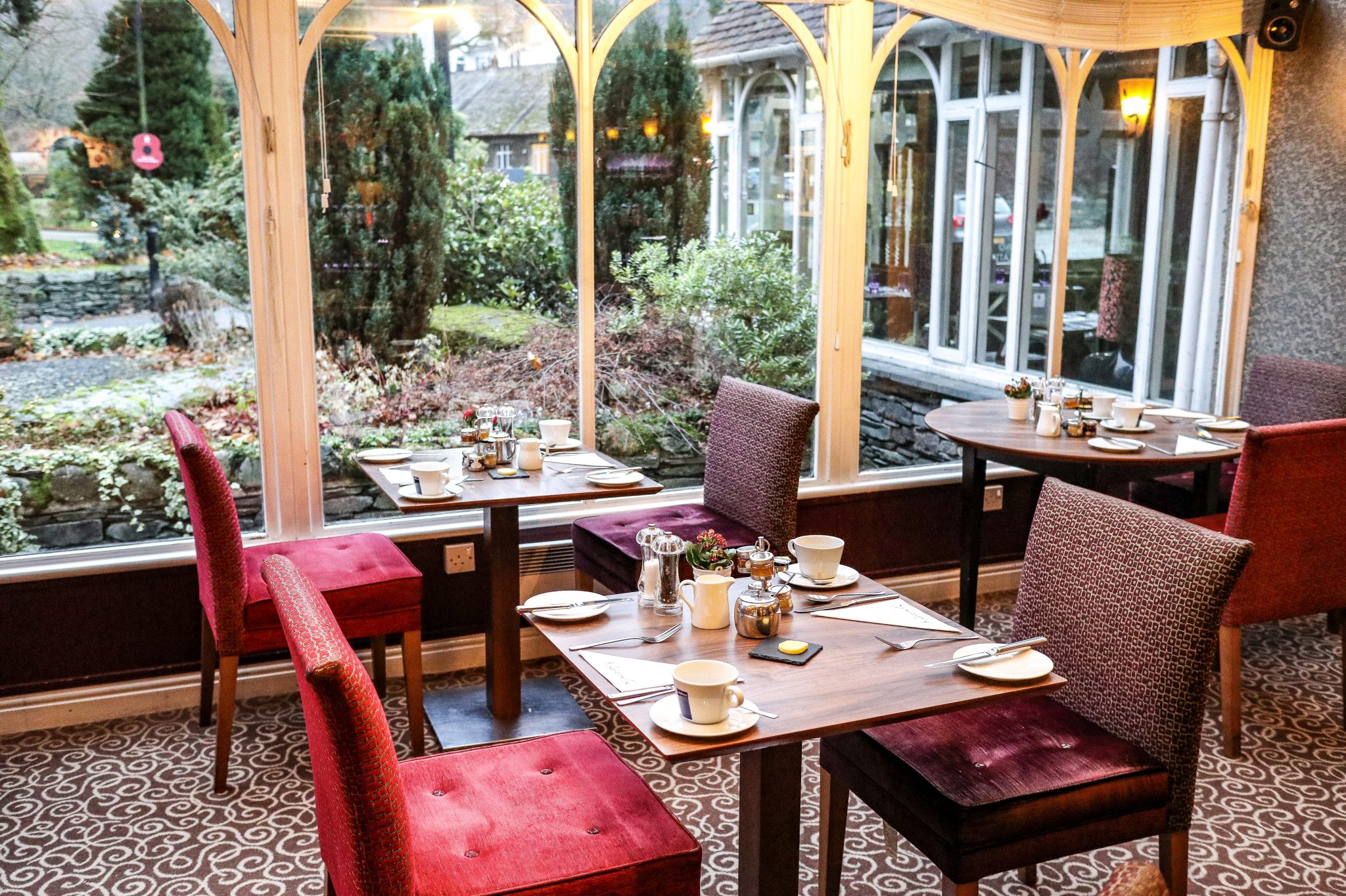 Breakfast Room at The Wordsworth Hotel & Spa, Grasmere, The Lake District