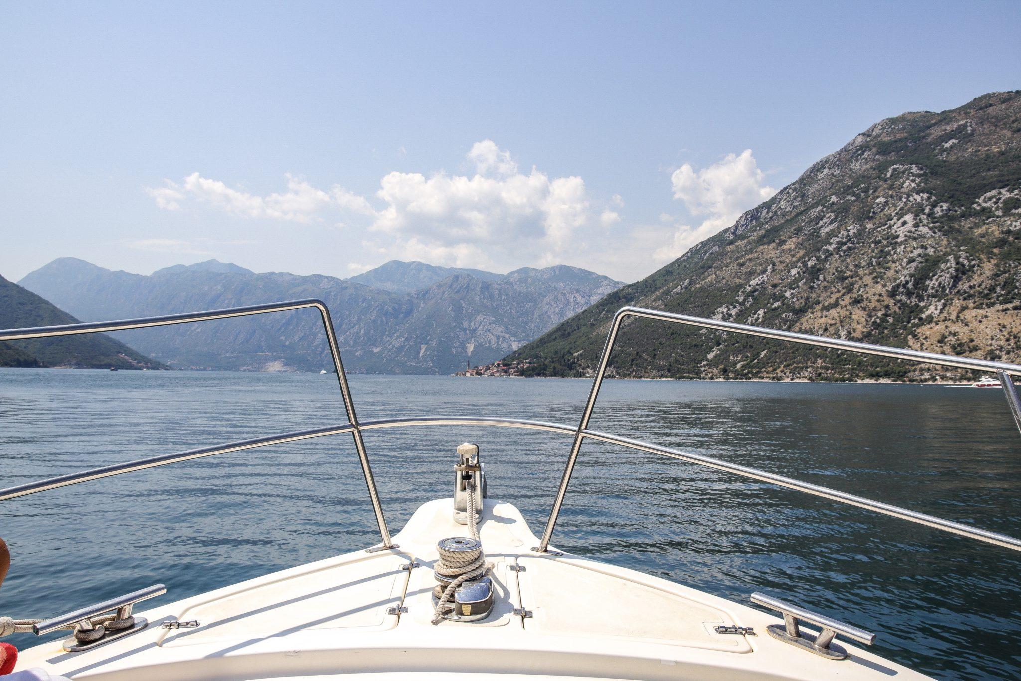 Boat on Bay of Kotor, Montenegro