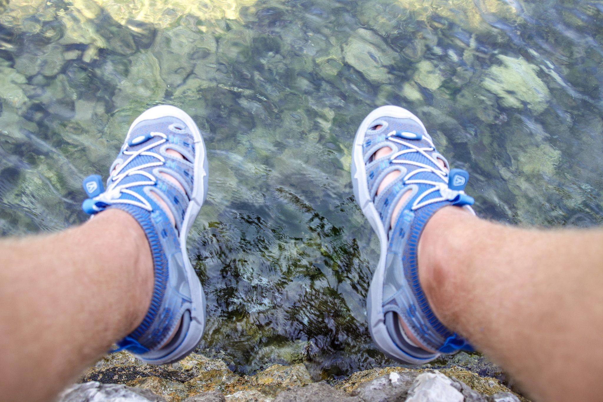 Blue water of Bay of Kotor, Montenegro